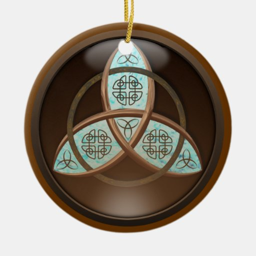 Celtic Trinity Knot Double-Sided Ceramic Round Christmas Ornament