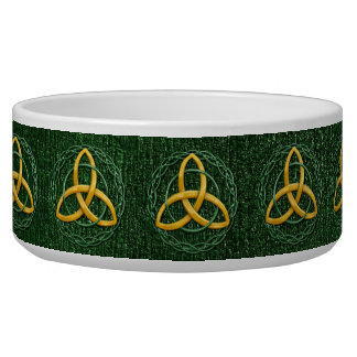Celtic Trinity Knot Pet Food Bowls