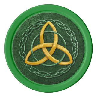 Celtic Trinity Knot Poker Chips