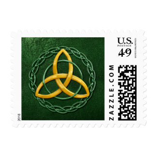 Celtic Trinity Knot Postage Stamp
