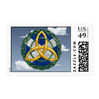 Celtic Trinity Knot Postage Stamp