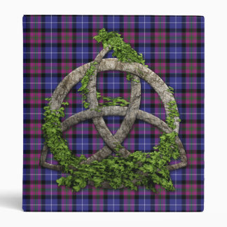 Celtic Trinity Knot Pride Of Scotland Tartan 3 Ring Binder