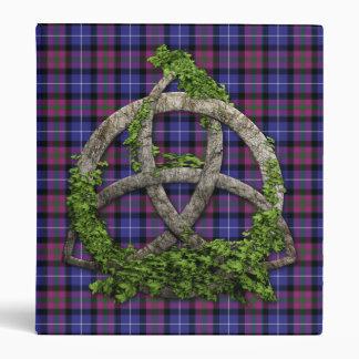 Celtic Trinity Knot Pride Of Scotland Tartan 3 Ring Binder