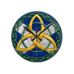 Celtic Trinity Knot Round Wallclocks