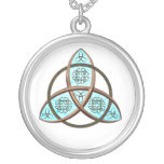 Celtic Trinity Knot Silver Plated Necklace