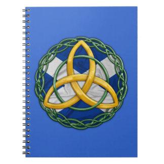 Celtic Trinity Knot Spiral Notebook