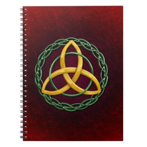 Celtic Trinity Knot Spiral Notebooks