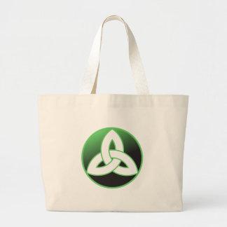 Celtic Trinity Knot Up Jumbo Tote Bag