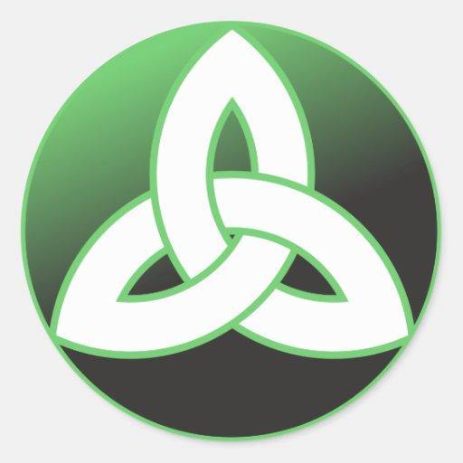 Celtic Trinity Knot Up Classic Round Sticker