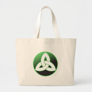 Celtic Trinity Knot Up Large Tote Bag