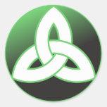 Celtic Trinity Knot Up Round Sticker