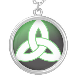Celtic Trinity Knot Up Silver Plated Necklace