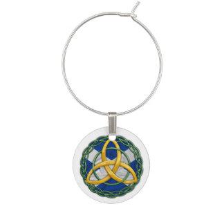 Celtic Trinity Knot Wine Charm