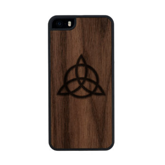Celtic Trinity Knot Wood iPhone Case