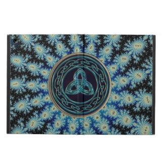 Celtic Trinity on Blue Fractal iPad Air Case