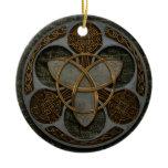 Celtic Trinity Shield Ceramic Ornament