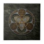Celtic Trinity Shield Ceramic Tiles