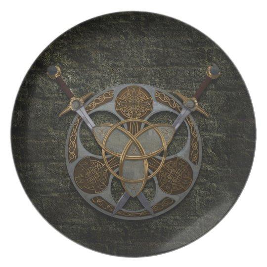 Celtic Trinity Shield Melamine Plate