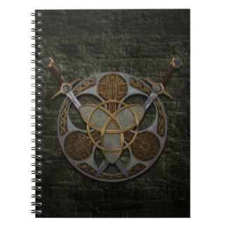 Celtic Trinity Shield Spiral Note Book