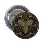 Celtic Trinity Shield Pinback Buttons