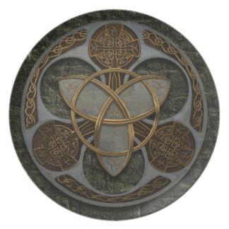 Celtic Trinity Shield Plates
