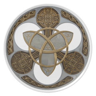 Celtic Trinity Shield Party Plate