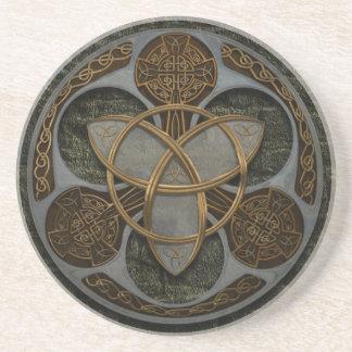 Celtic Trinity Shield Sandstone Coaster