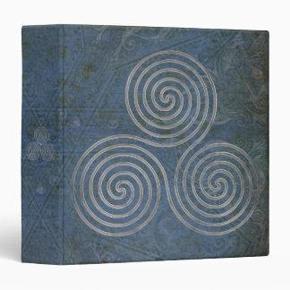 celtic triple spiral - OneLine antique silver Binder