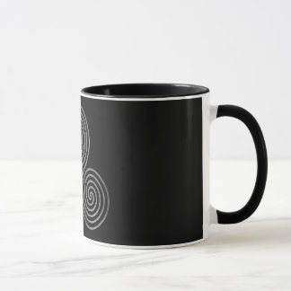 celtic triple spiral - OneLine antiqueSilverBlack Mug