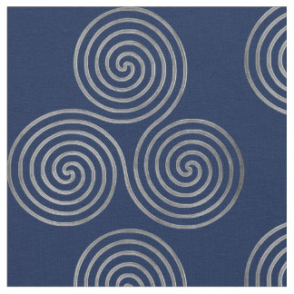 Celtic Triple Spirale One Line Silver Fabric