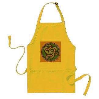 Celtic Triple Swirl Gold Adult Apron