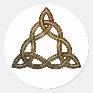 celtic triquetra classic round sticker