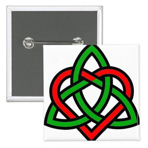 Celtic Triquetra Heart Buttons | Zazzle