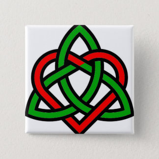 Celtic Triquetra Heart Pinback Button