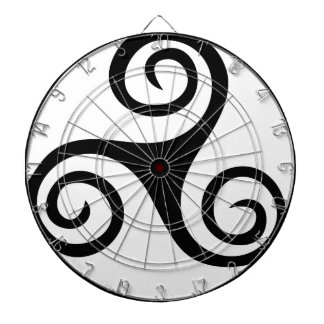Celtic Triquetra Knot Dartboard With Darts