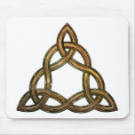 celtic triquetra mouse pad