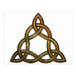 celtic triquetra postcard
