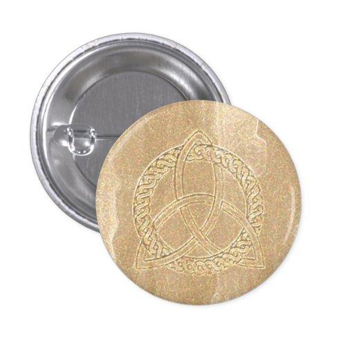Celtic Triquetra Trinity Knot Button