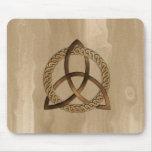 Celtic Triquetra Trinity Knot Button Mousepad