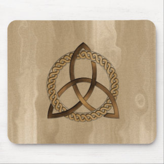 Celtic Triquetra Trinity Knot Button Mousepad