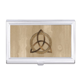 Celtic Triquetra Trinity Knot Card Holder Business Card Cases