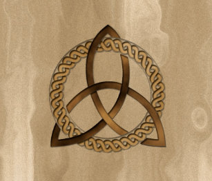 Celtic Triquetra Trinity Knot Ceramic Drawer Pull
