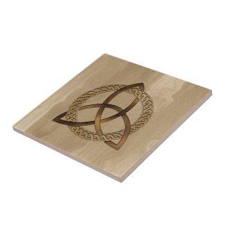 Celtic Triquetra Trinity Knot Ceramic Tile