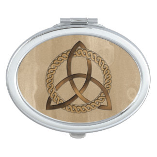Celtic Triquetra Trinity Knot Oval Compact Mirror