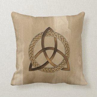 Celtic Triquetra Trinity Knot Pillow