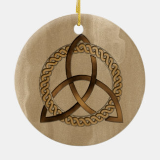 Celtic Triquetra Trinity Knot Round Ornament