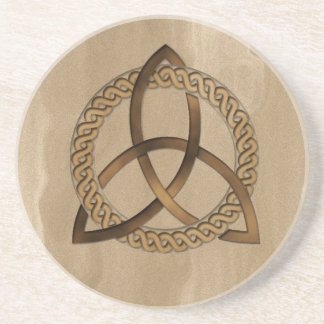 Celtic Triquetra Trinity Knot Sandstone Coaster