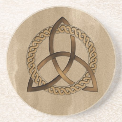 Celtic Triquetra Trinity Knot Sandstone Coaster