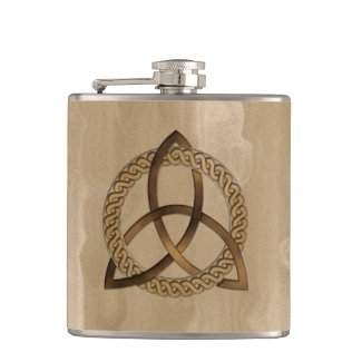 Celtic Triquetra Trinity Knot Vinyl Wrapped Flask