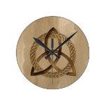 Celtic Triquetra Trinity Knot Wall Clock